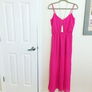 Hot Pink Maxi Dress NWT